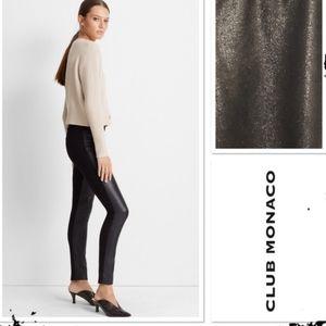 Club Monaco black faux leather leggings pants, sz4